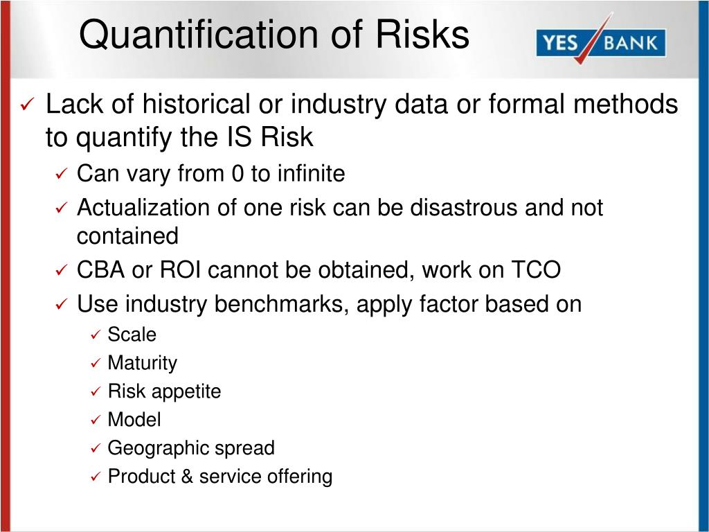 Quantification of Risks