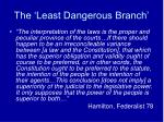 the least dangerous branch