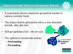 dow corning silicone elastomer blends