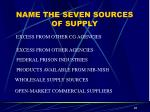 name the seven sources of supply