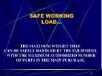 safe working load