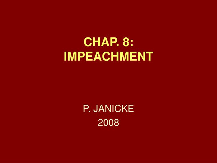 chap 8 impeachment n.