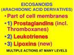 eicosanoids arachidonic acid derivatives