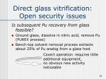 direct glass vitrification open security issues