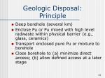geologic disposal principle