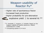 weapon usability of reactor pu