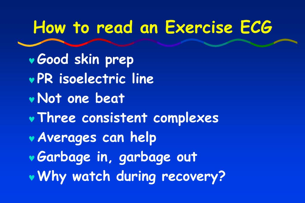 How to read an Exercise ECG