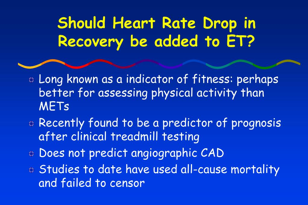 Should Heart Rate Drop in Recovery be added to ET?