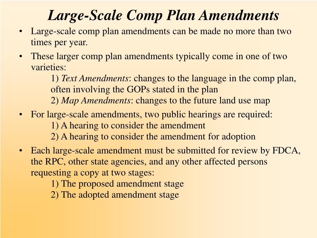 Large-Scale Comp Plan Amendments