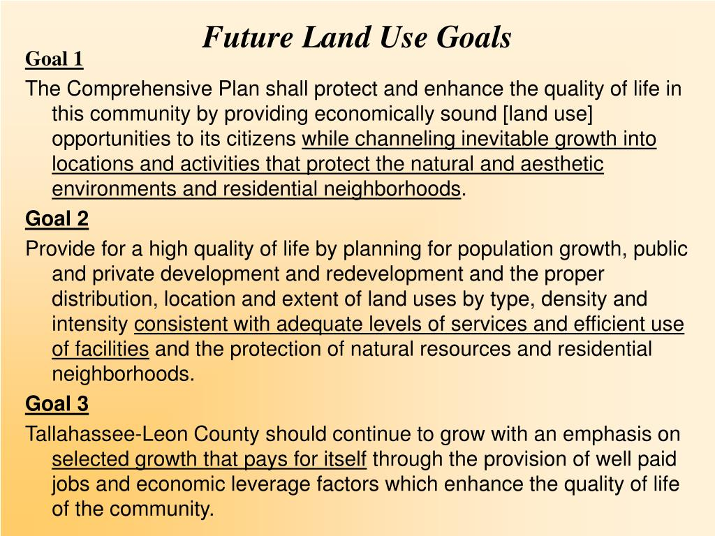 Future Land Use Goals