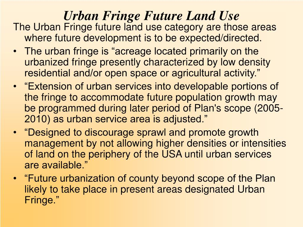 Urban Fringe Future Land Use