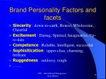 brand personality factors and facets