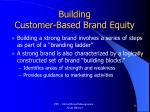 building customer based brand equity
