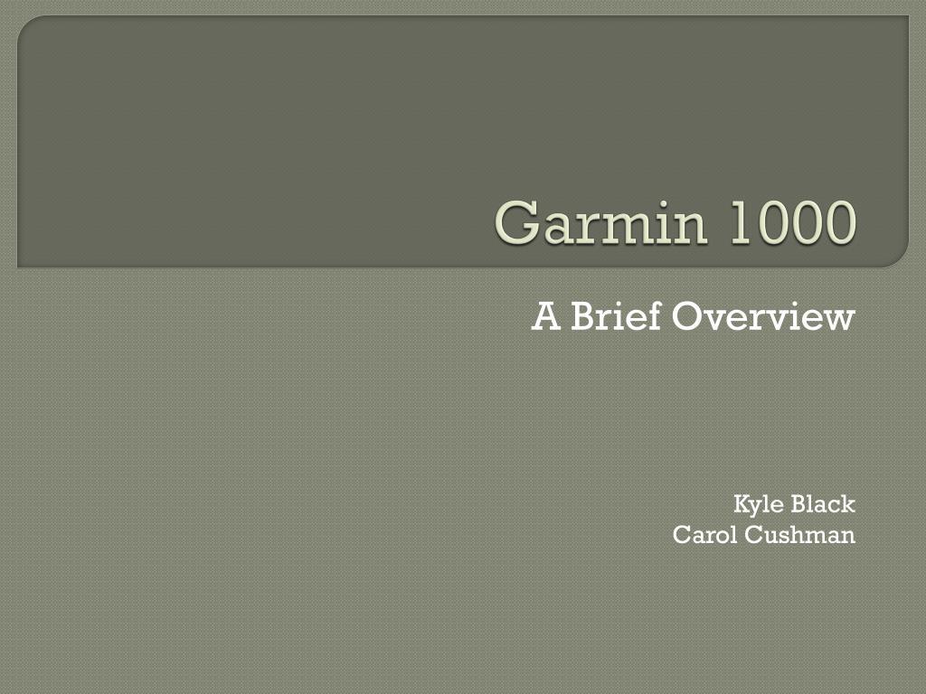 garmin 1000 l.