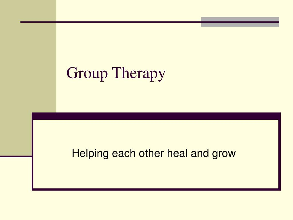 group therapy l.
