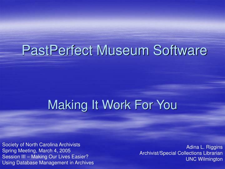 pastperfect museum software n.