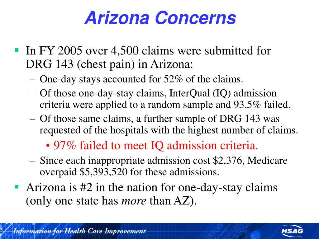 Arizona Concerns