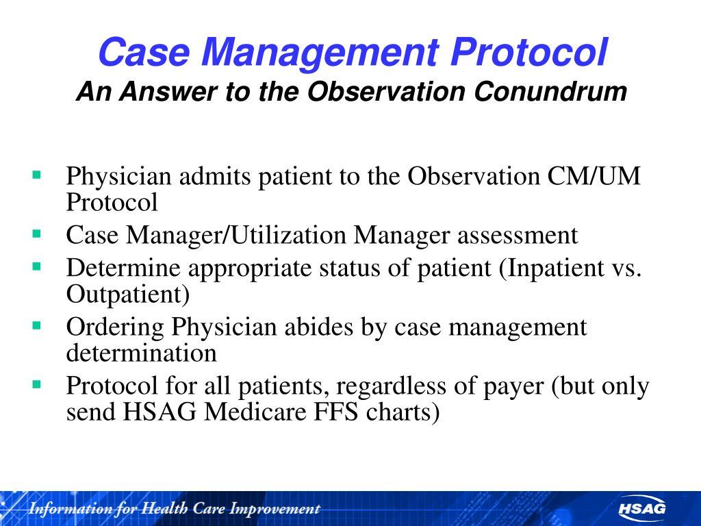 Case Management Protocol