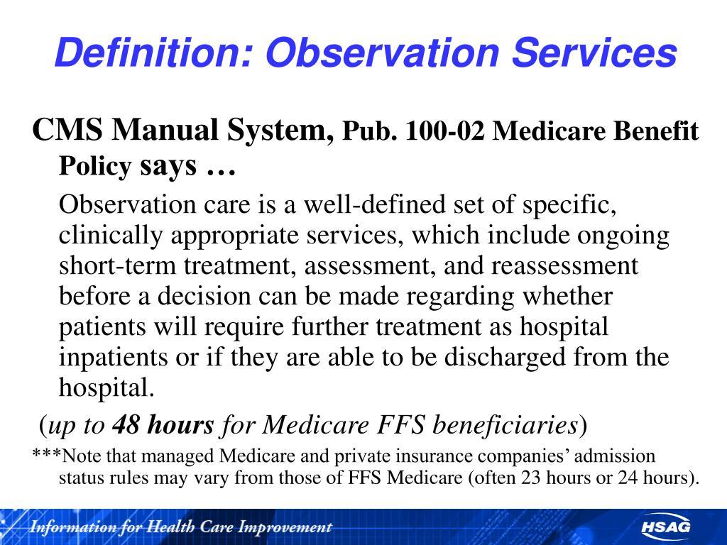 Definition: Observation Services