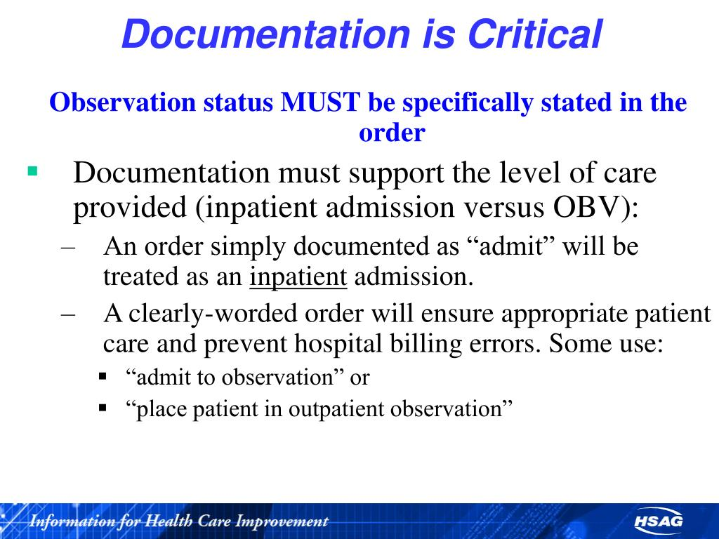 Documentation is Critical