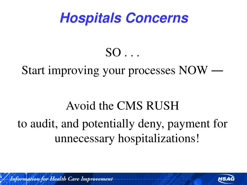 Hospitals Concerns