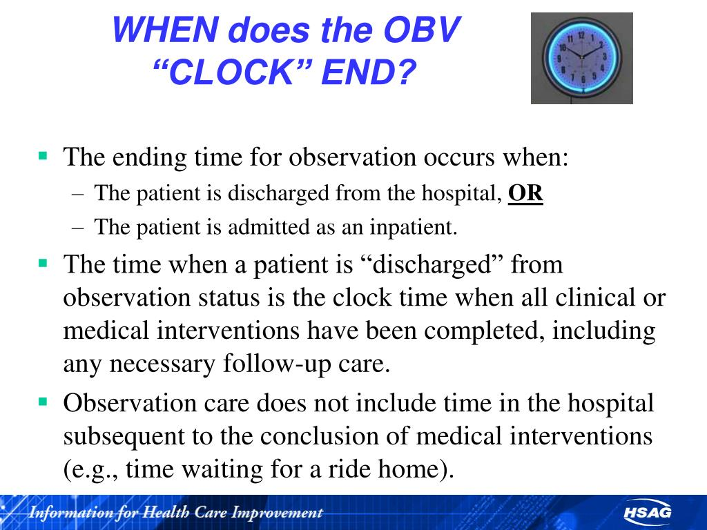 """WHEN does the OBV """"CLOCK"""" END?"""