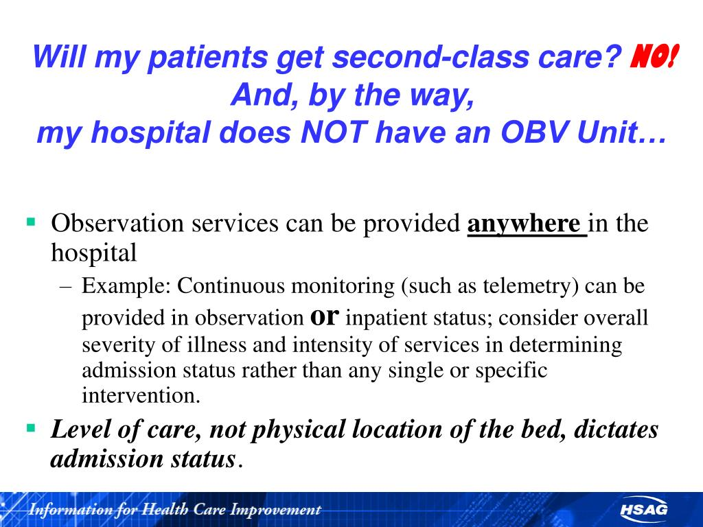 Will my patients get second-class care?