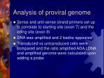 analysis of proviral genome