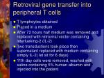 retroviral gene transfer into peripheral t cells