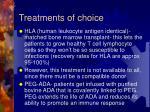 treatments of choice