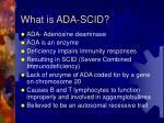 what is ada scid