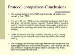 protocol comparison conclusions88