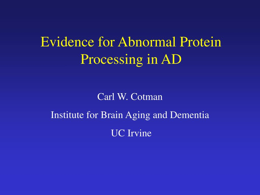 evidence for abnormal protein processing in ad l.