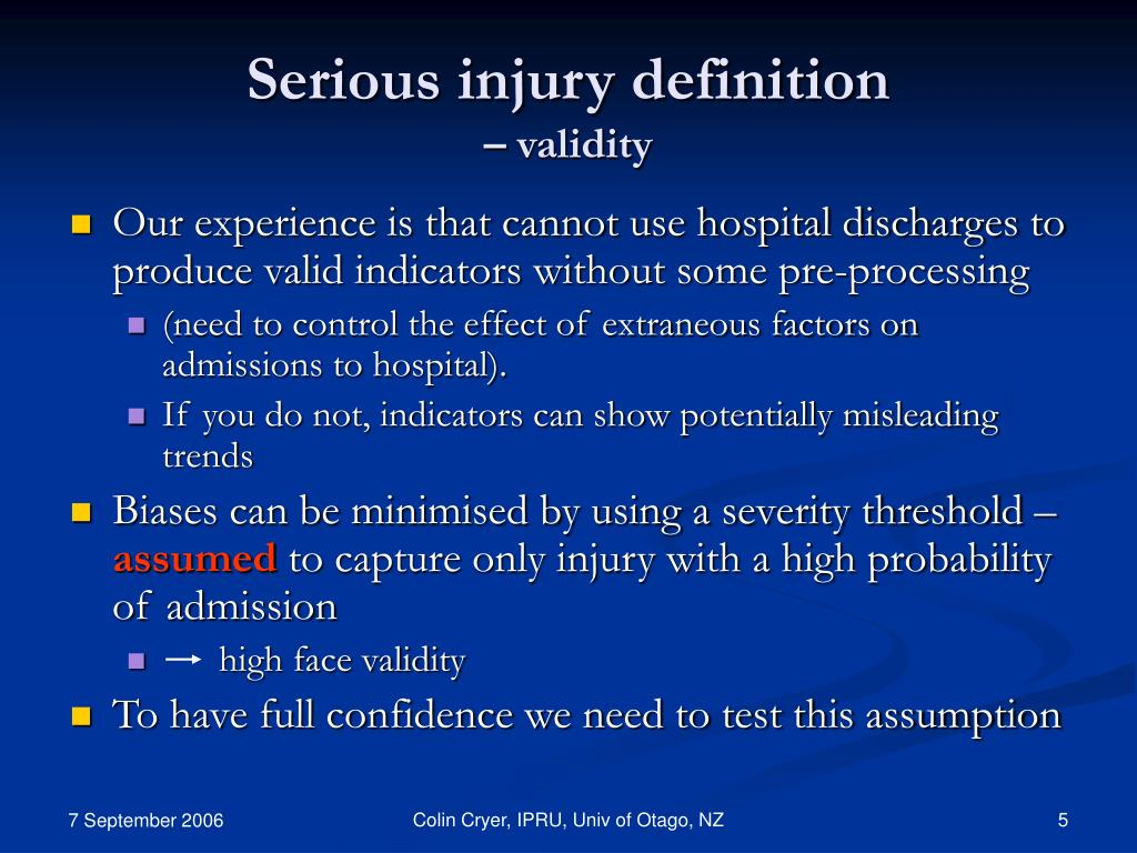 Serious injury definition