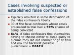 cases involving suspected or established false confessions