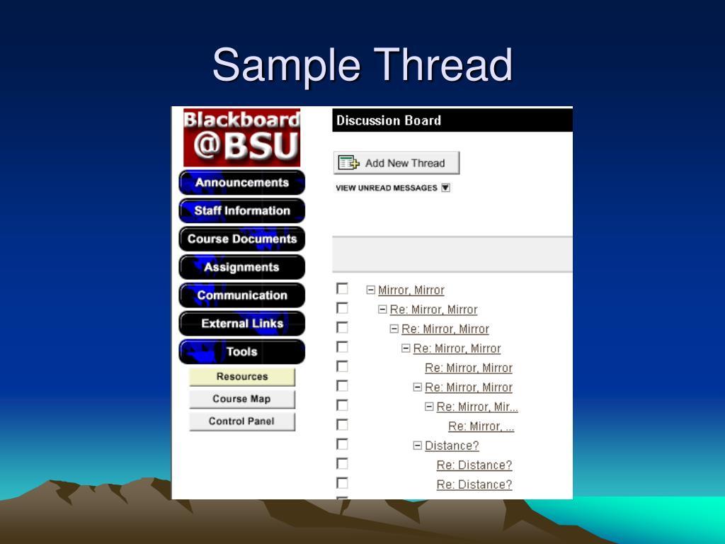 Sample Thread