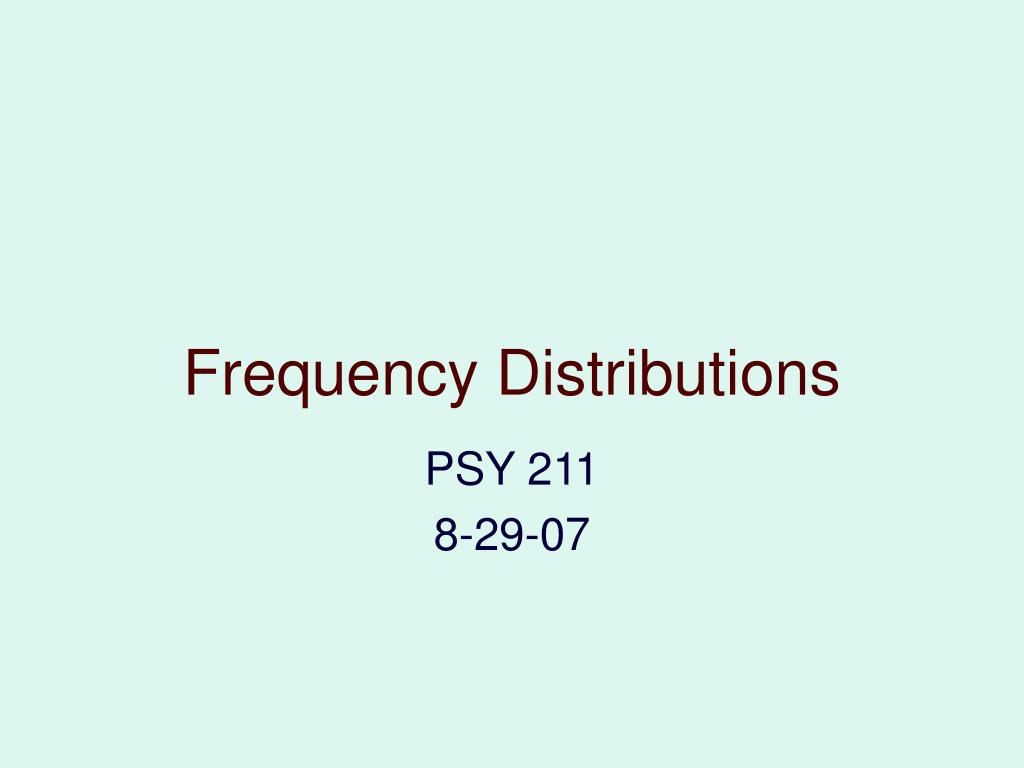 frequency distributions l.