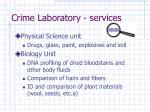 crime laboratory services