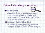 crime laboratory services8