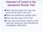 detection of curare in the jascalevich murder trial