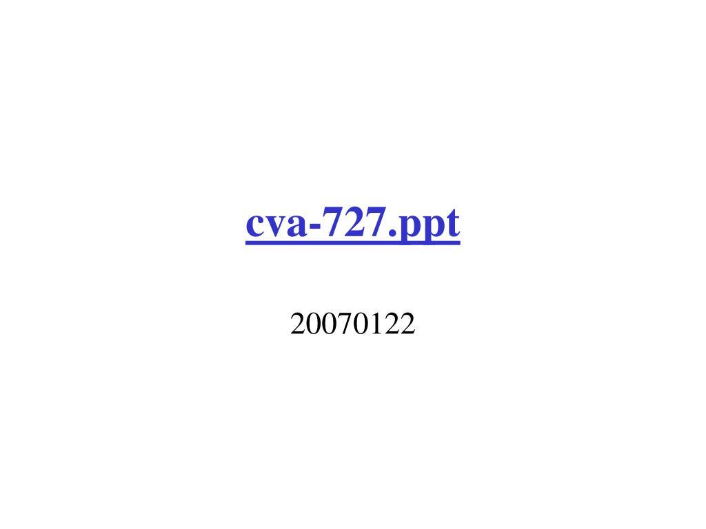 cva 727 ppt l.