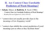 ii are context clues unreliable predictors of word meanings
