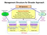 management structure for broader approach