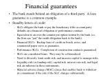 financial guarantees