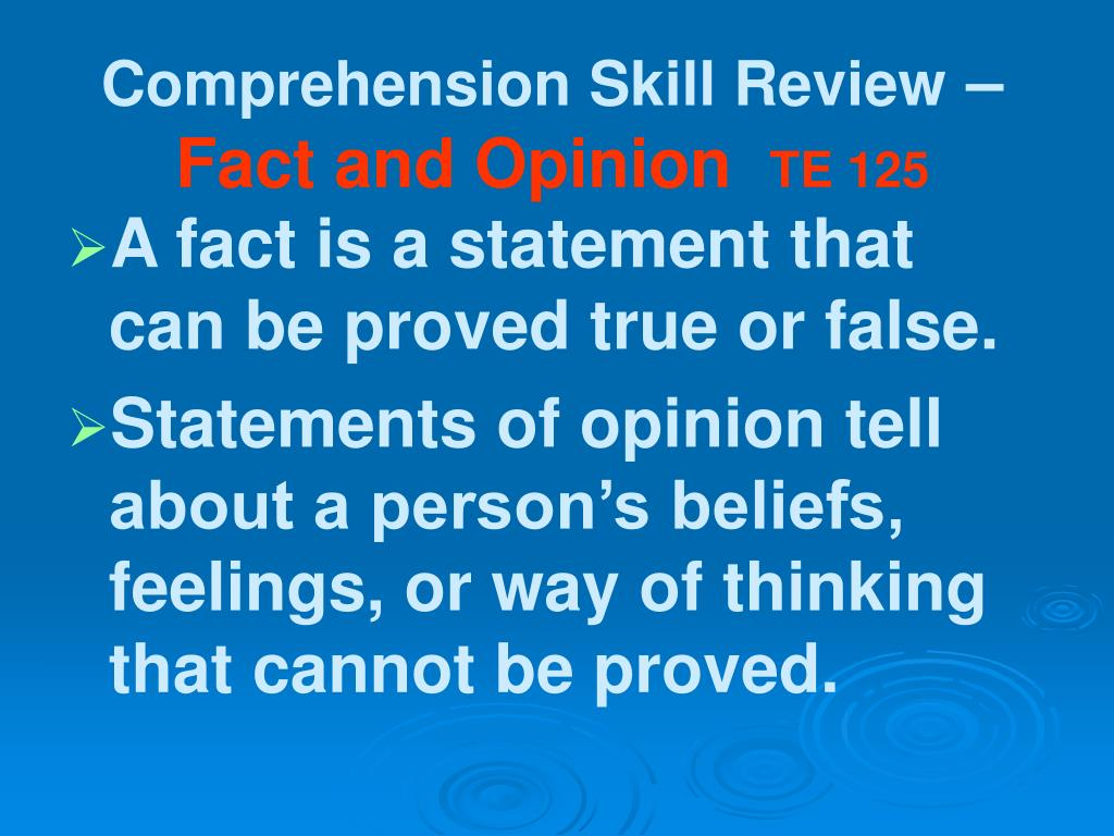 Comprehension Skill Review