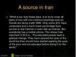 a source in iran