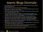islamic blogs dominate