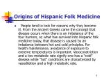 origins of hispanic folk medicine