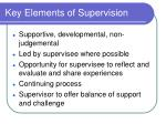 key elements of supervision