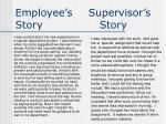 employee s supervisor s story story